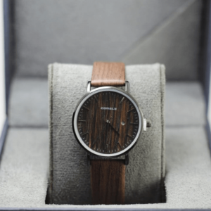 Comely Cocolate Wooden style with Leather Strap Watch