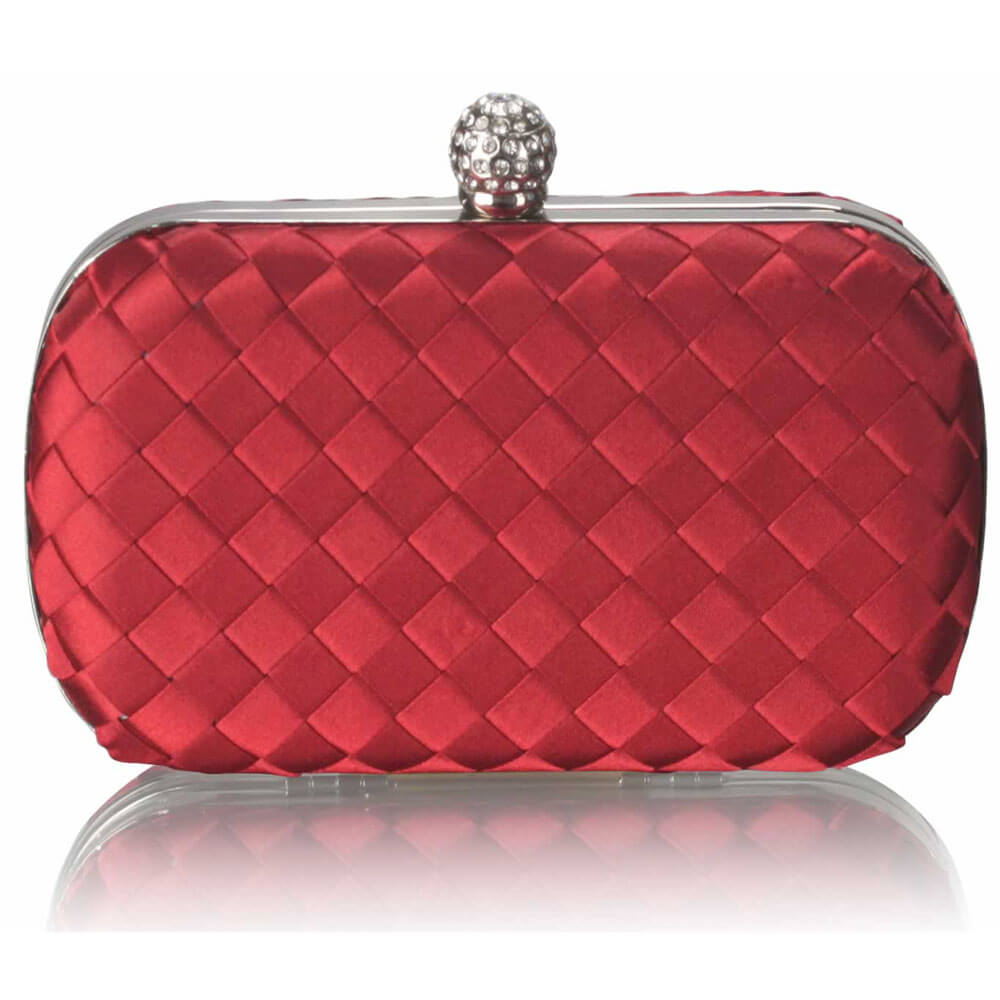 Gorgeous Red Hard Case Evening Bag