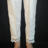 ZT124-3Off White – Trouser Pant For Ladies Women With Lace