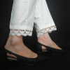 ZT124-4Off White – Trouser Pant For Ladies Women With Lace