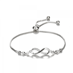 Adjustable Fashion Bracelet For Women - Silver