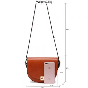 Brown Cross Body Shoulder Bag