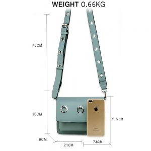 Blue Flap Cross Body Bag