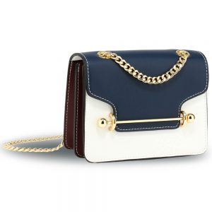 navy White Burgundy shoulder bag