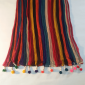 Chiffon Crush Dupatta - Large With Bottom Tassels - Length 2.5 Yards - Multi