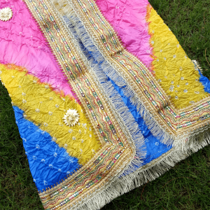Silk Dupatta With Chunri And Gota Work Large Length