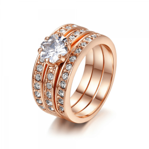 Pieces Ring Set For Women Rose Gold High Quality