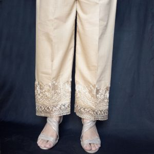 Embroided Cotton Trouser For Women