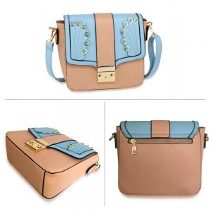 Pink Blue Cross Body Shoulder Bag