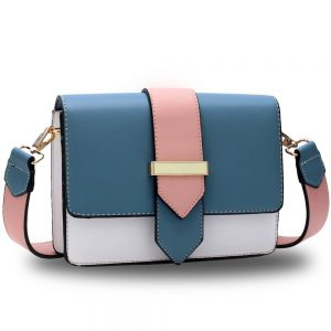 Pink Flap Cross Body Shoulder Bag
