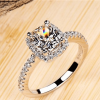 Silver Ring For Women With Blue Stones - High Quality