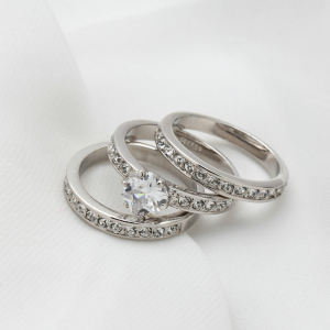 Pieces Ring Set For Women - Silver - High Quality