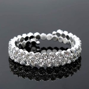 Silver Glowing Bangle Bracelet For Girls Women
