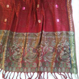 Embroided Winter Warm Wool Shawl For Women Ladies